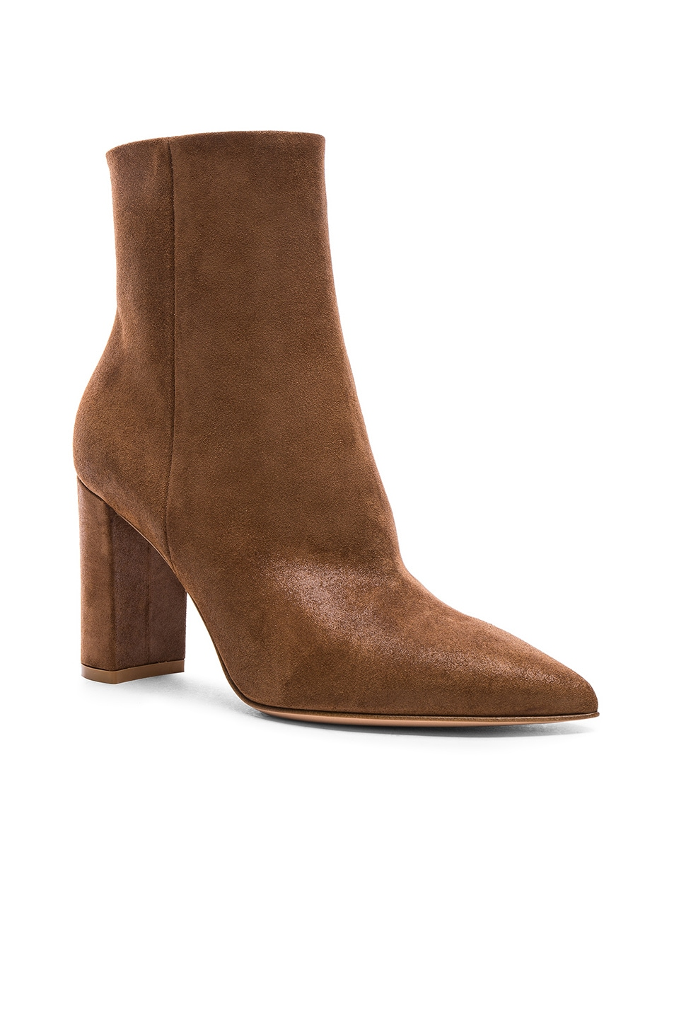 Image 2 of Gianvito Rossi Suede Piper Ankle Boots in Texas