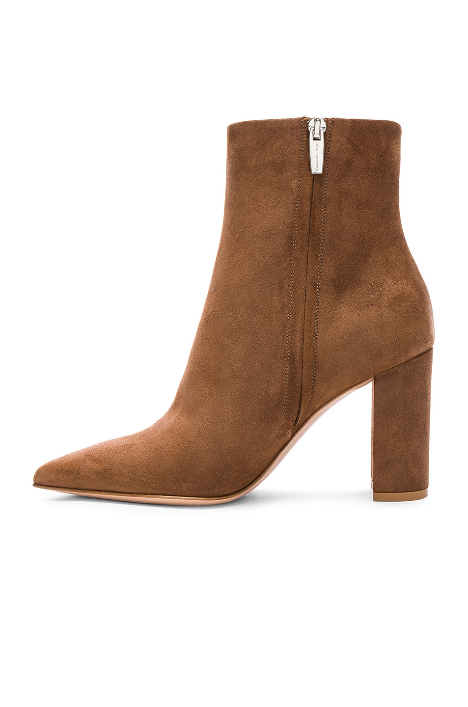 Image 5 of Gianvito Rossi Suede Piper Ankle Boots in Texas