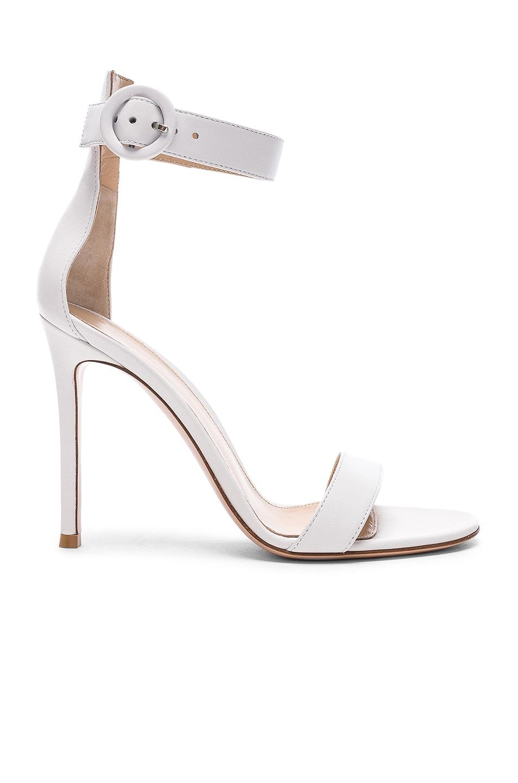 Image 1 of Gianvito Rossi Leather Portofino Heels in White