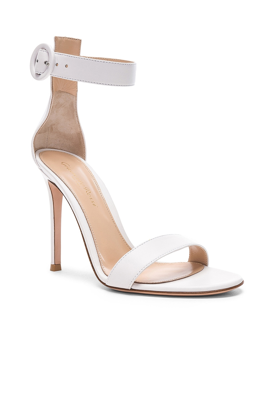 Image 2 of Gianvito Rossi Leather Portofino Heels in White