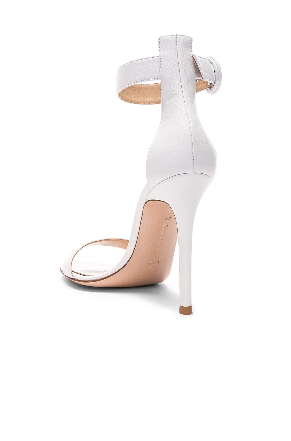 Image 3 of Gianvito Rossi Leather Portofino Heels in White