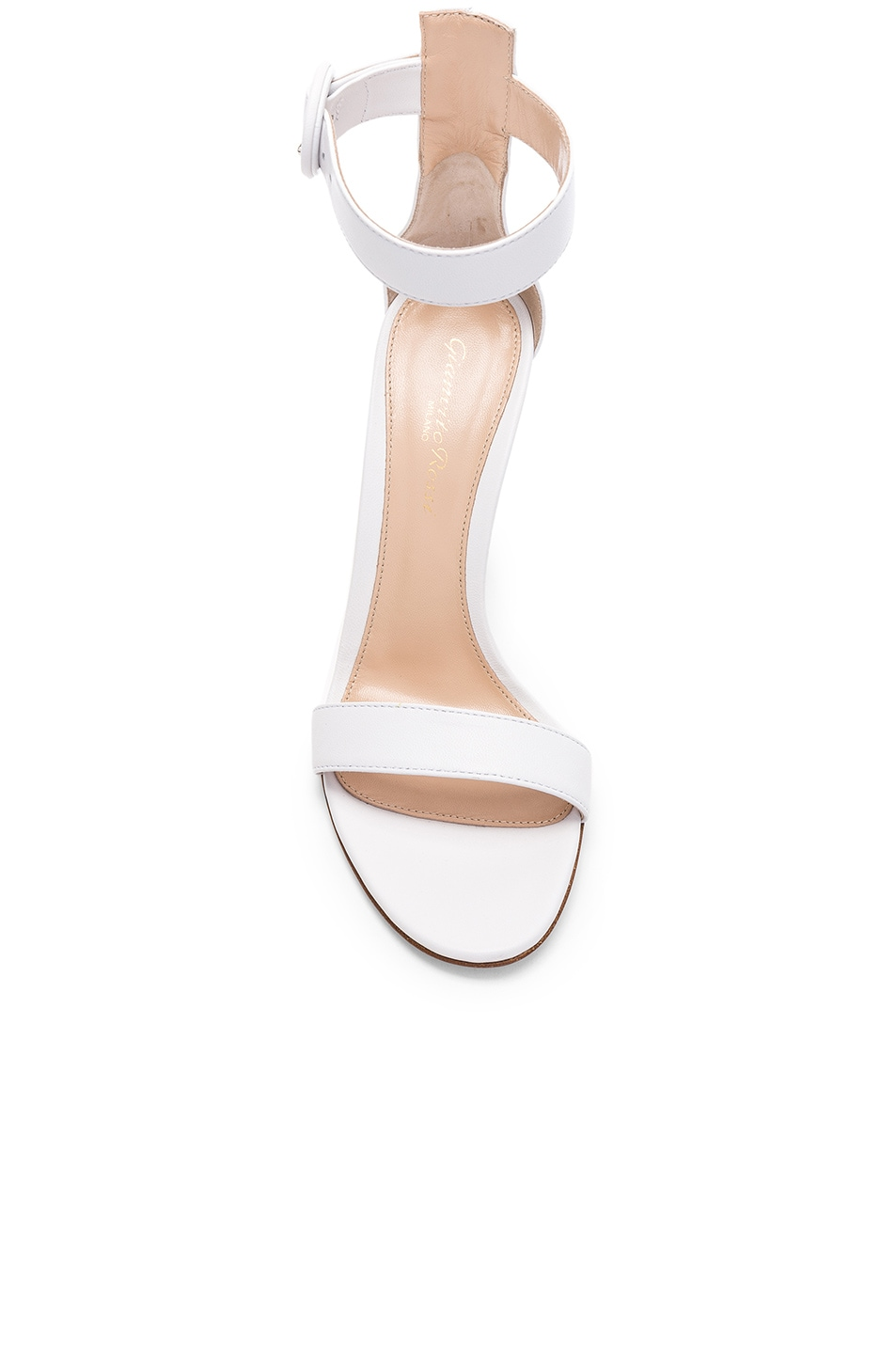 Image 4 of Gianvito Rossi Leather Portofino Heels in White