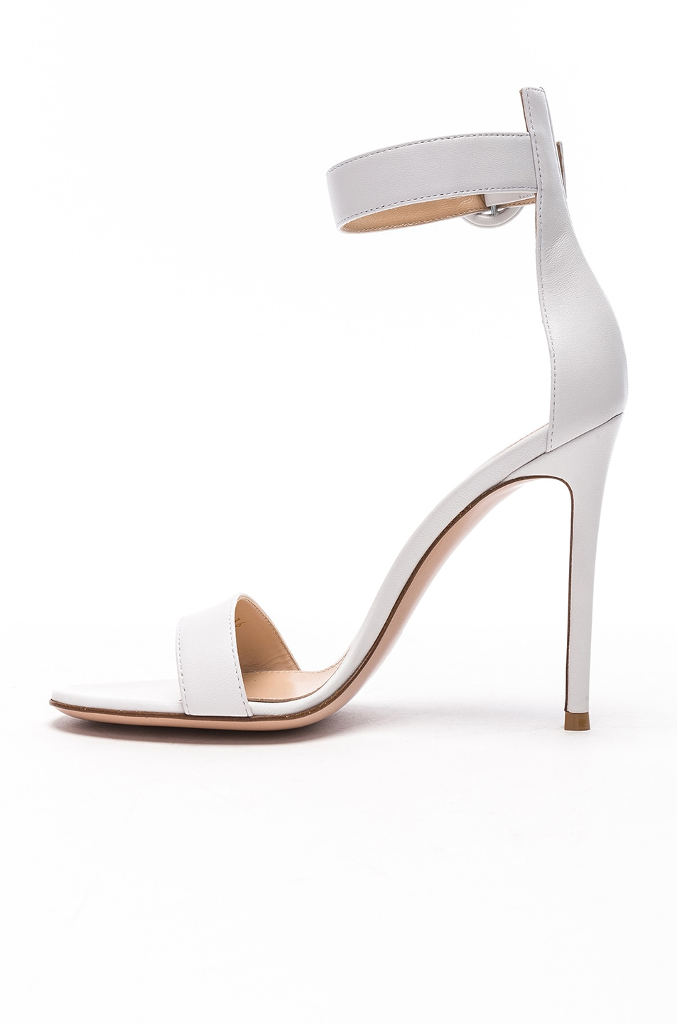 Image 5 of Gianvito Rossi Leather Portofino Heels in White