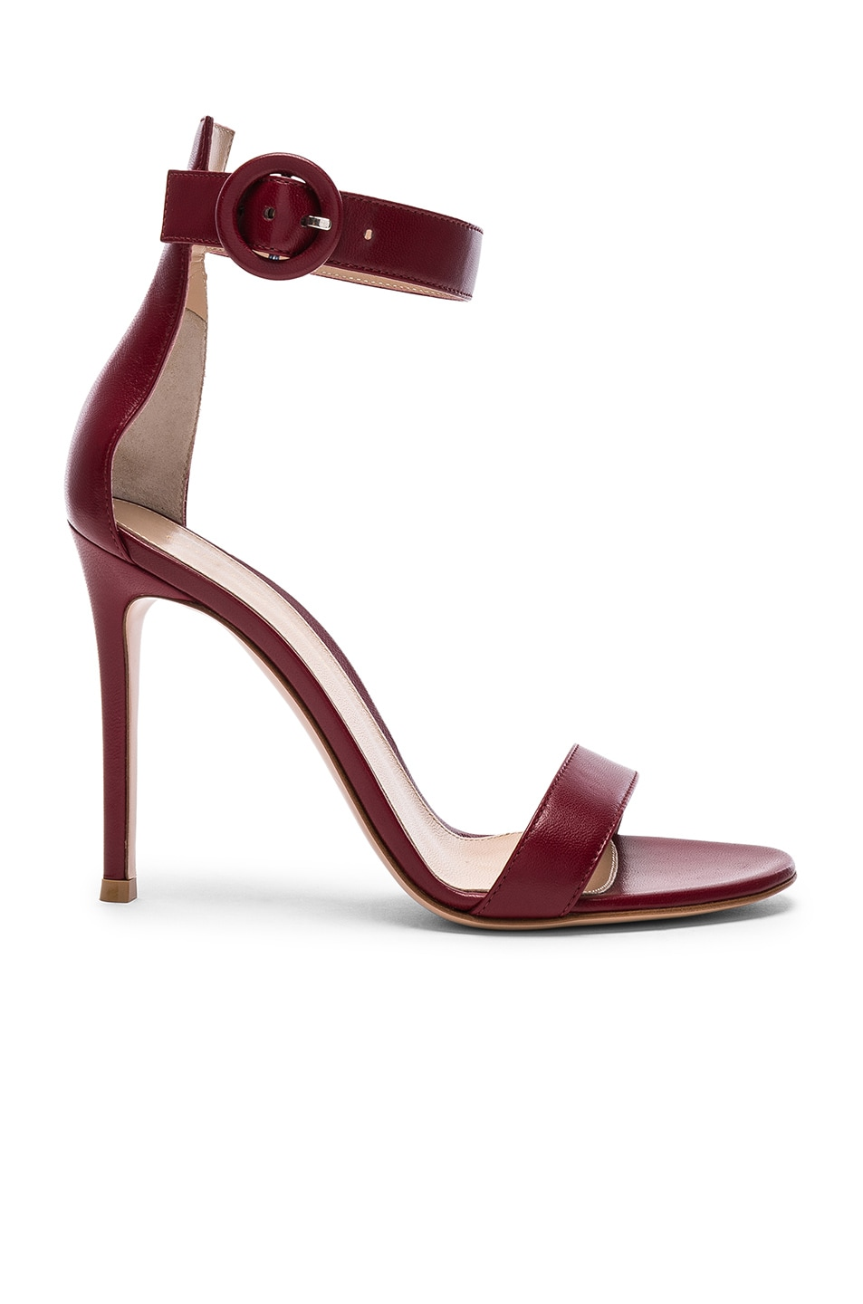 Image 1 of Gianvito Rossi for FWRD Leather Portofino Heels in Syrah