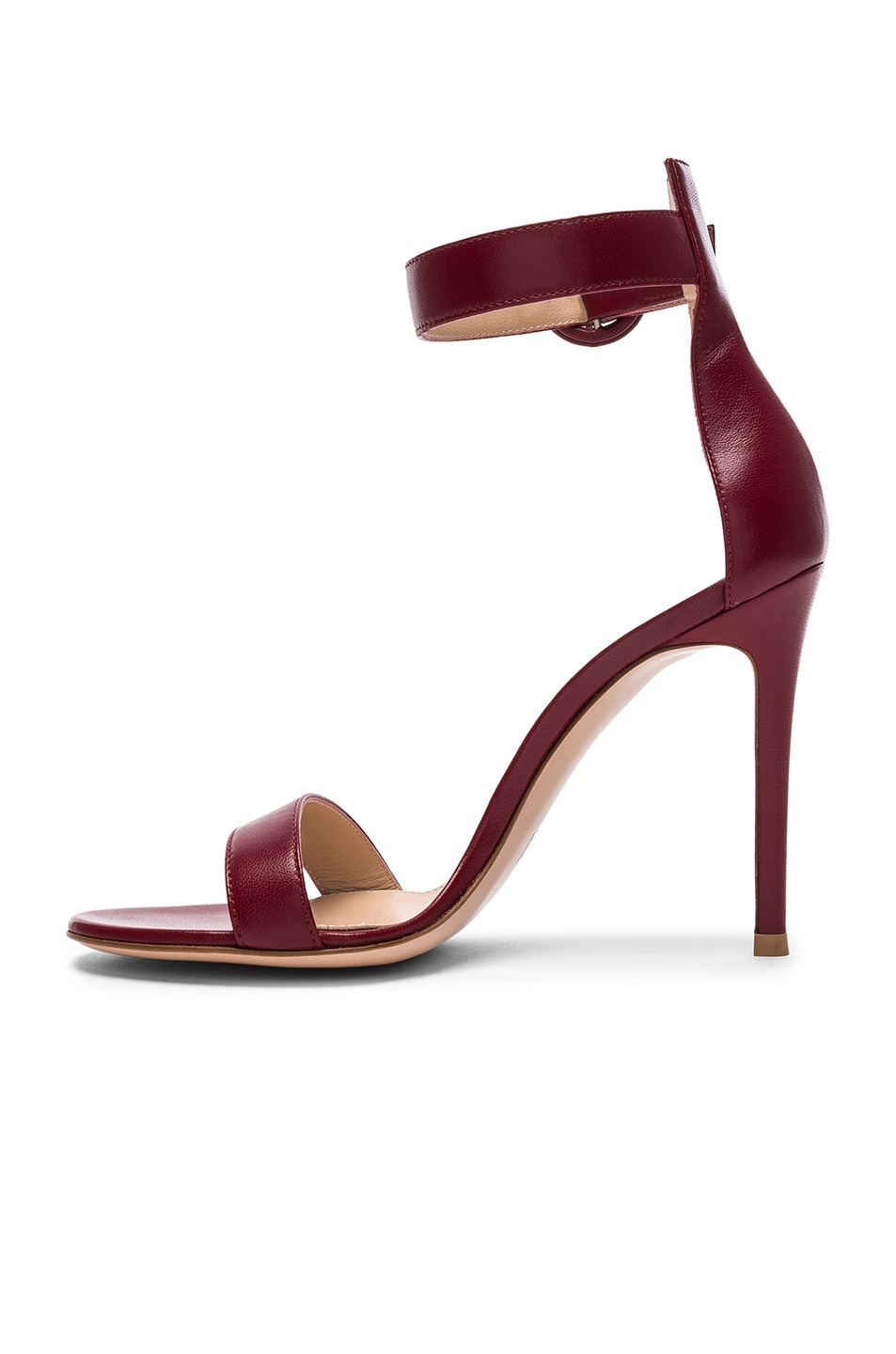 Image 5 of Gianvito Rossi for FWRD Leather Portofino Heels in Syrah