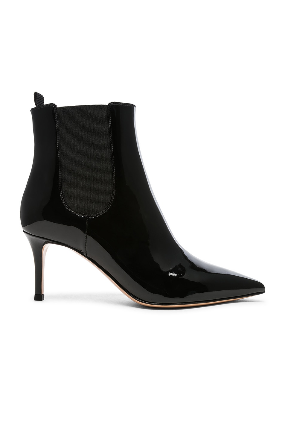 Image 1 of Gianvito Rossi Patent Leather Evan Stiletto Ankle Boots in Black