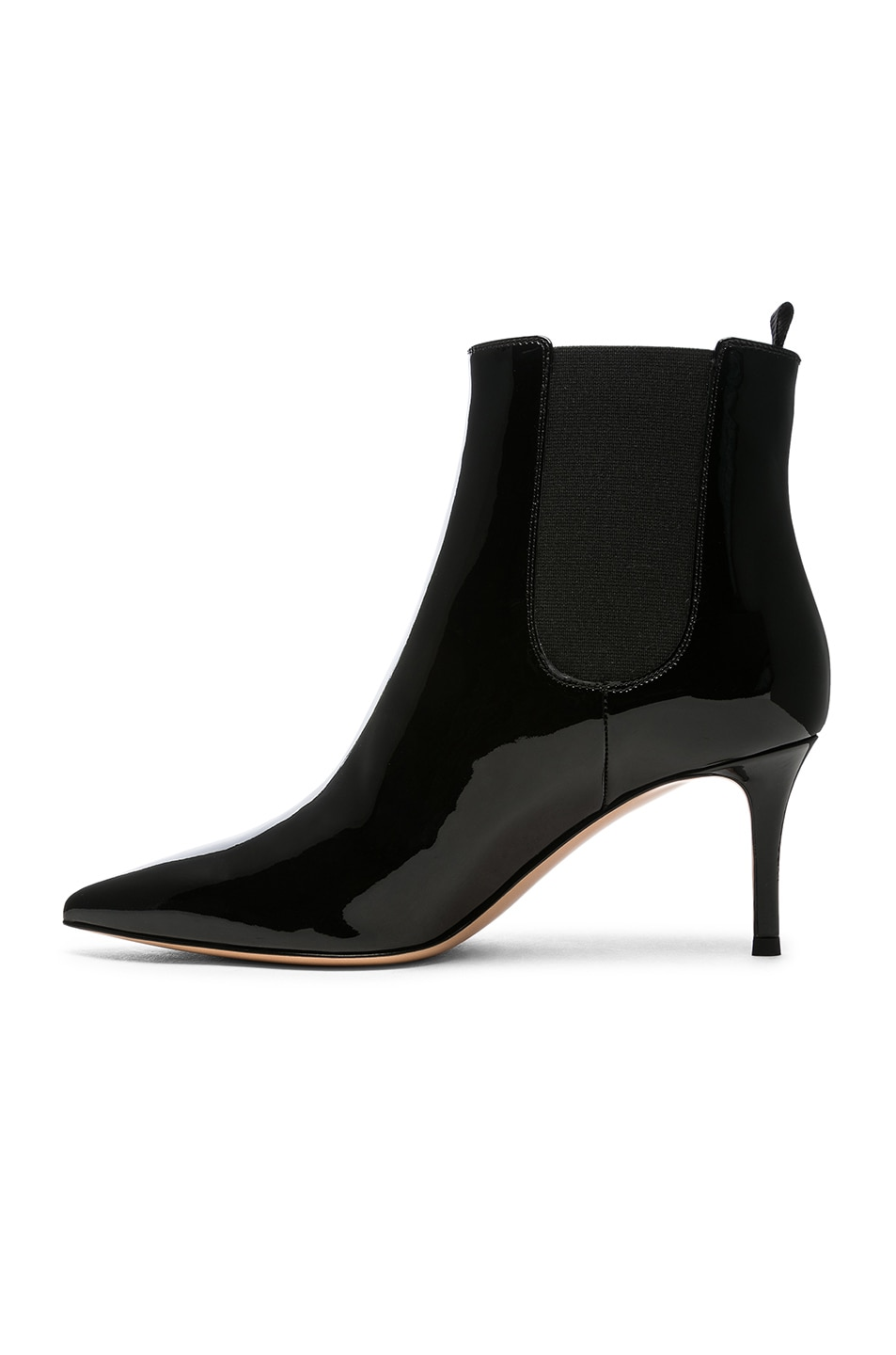Image 5 of Gianvito Rossi Patent Leather Evan Stiletto Ankle Boots in Black