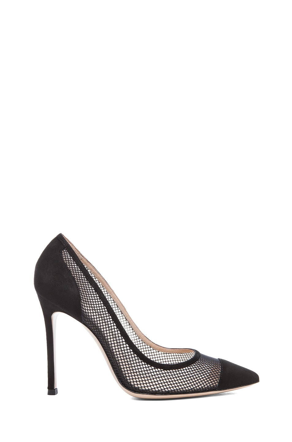 Image 1 of Gianvito Rossi Suede Pumps in Nero & Nude