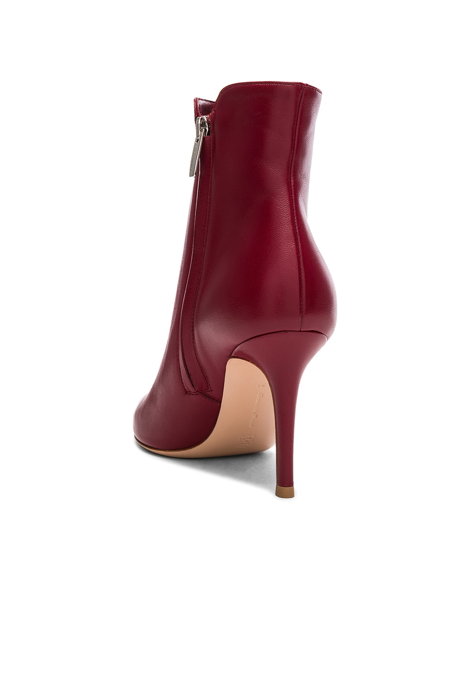 Gianvito Rossi Leather Levy Ankle Boots Syrah on sale
