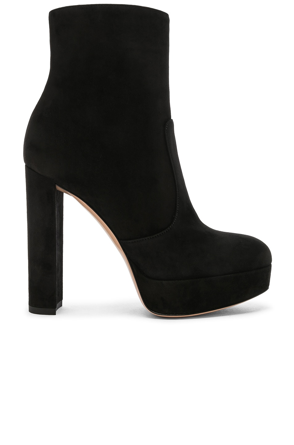 Image 1 of Gianvito Rossi Suede Brook Platform Ankle Boots in Black