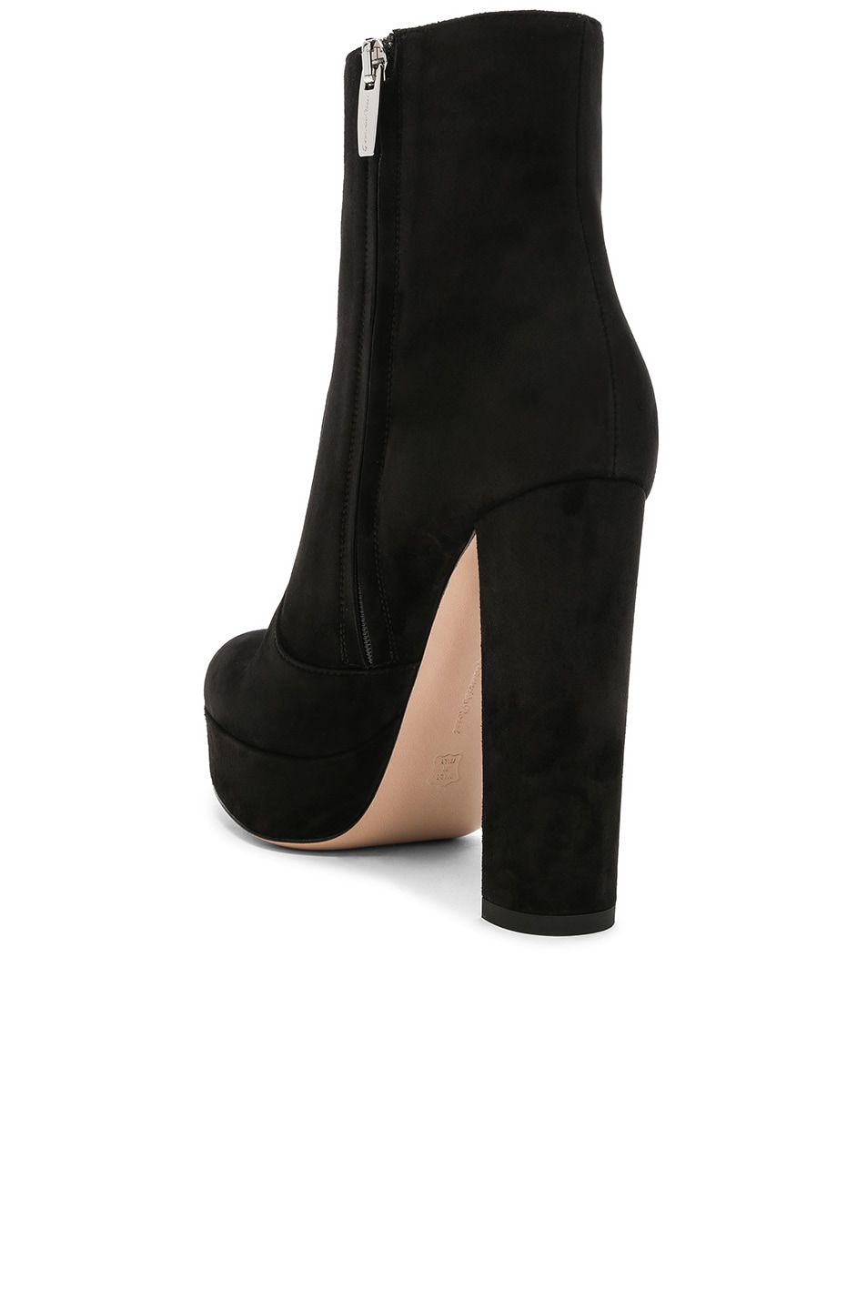 Image 3 of Gianvito Rossi Suede Brook Platform Ankle Boots in Black