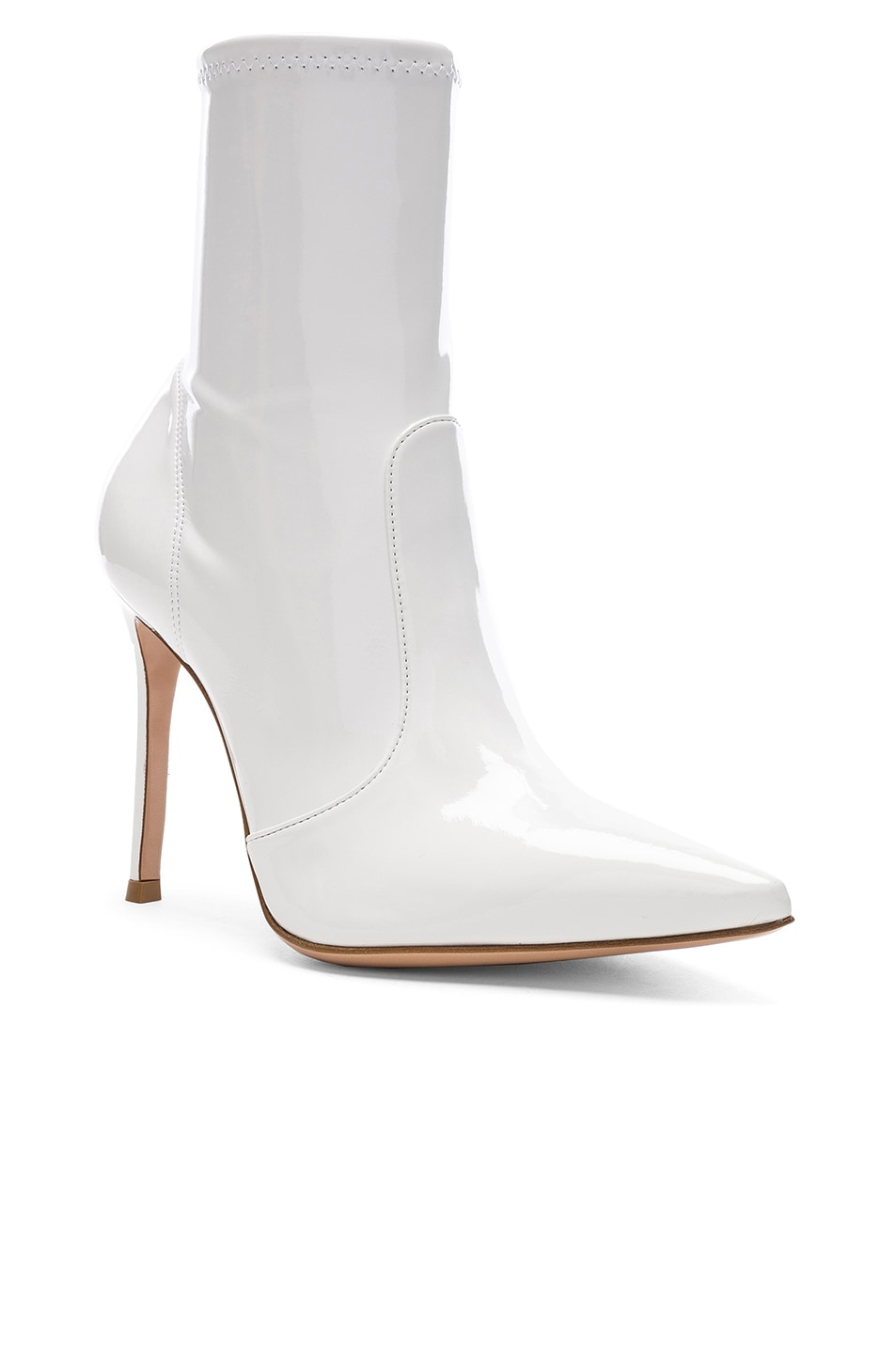 Image 2 of Gianvito Rossi Vinyl Imogen Ankle Boots in White