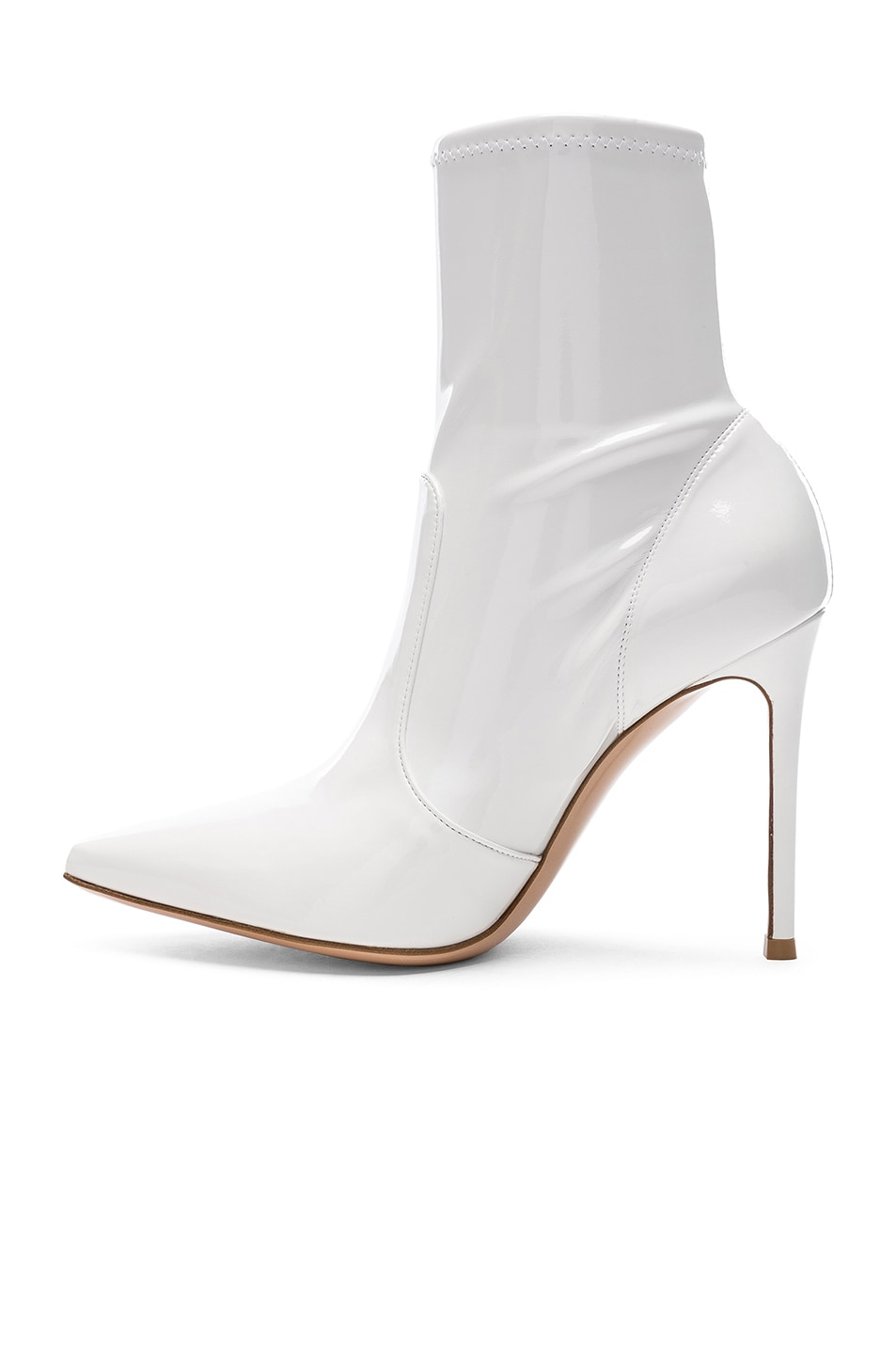 Image 5 of Gianvito Rossi Vinyl Imogen Ankle Boots in White