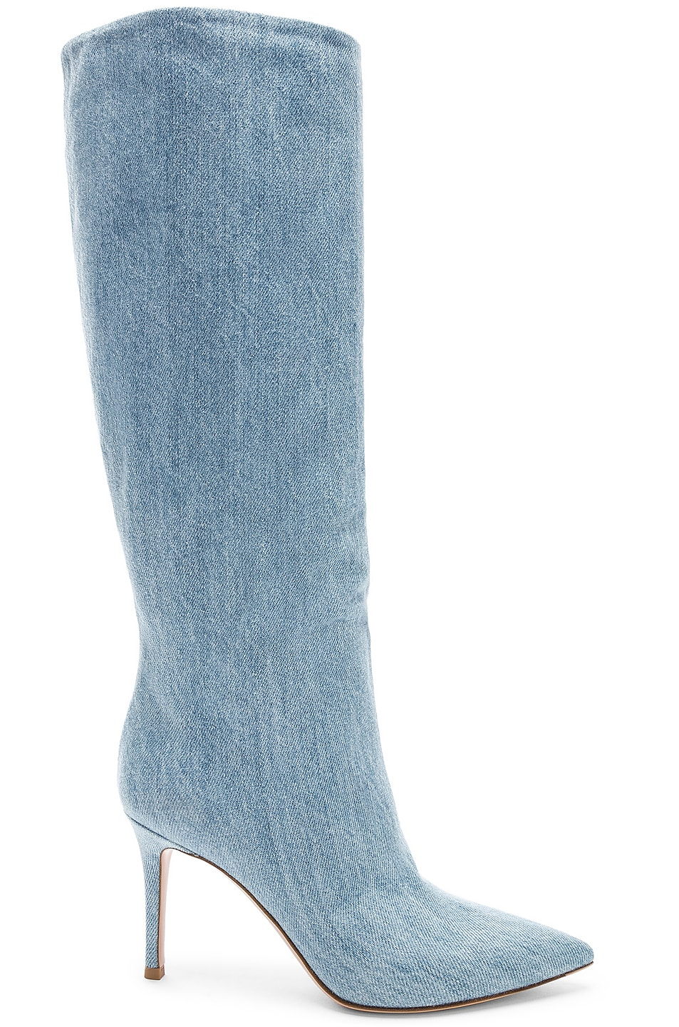 Image 1 of Gianvito Rossi Denim Boots in Stonewash