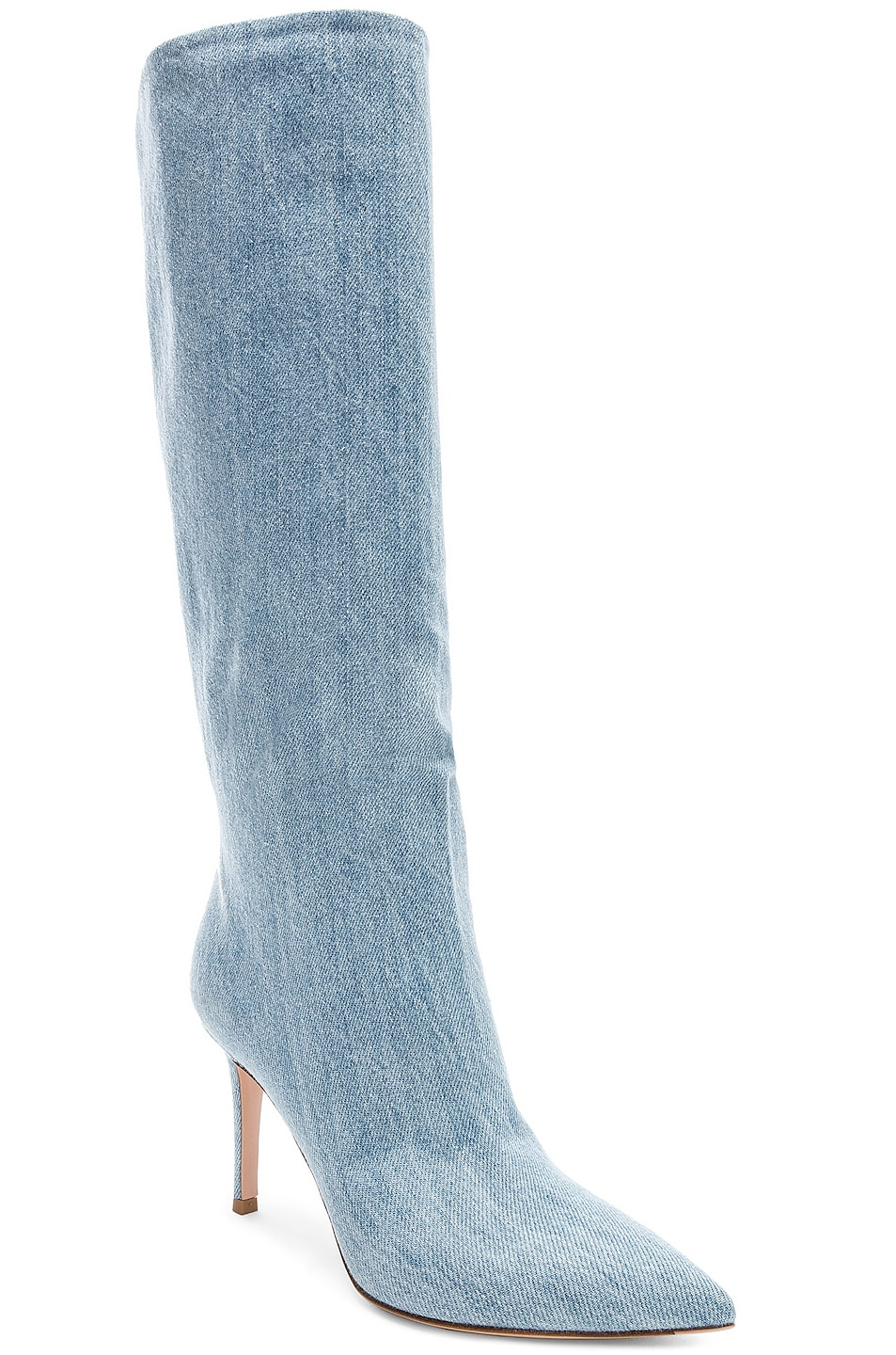 Image 2 of Gianvito Rossi Denim Boots in Stonewash