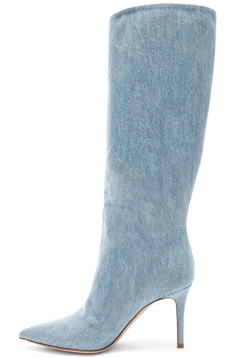 Image 5 of Gianvito Rossi Denim Boots in Stonewash