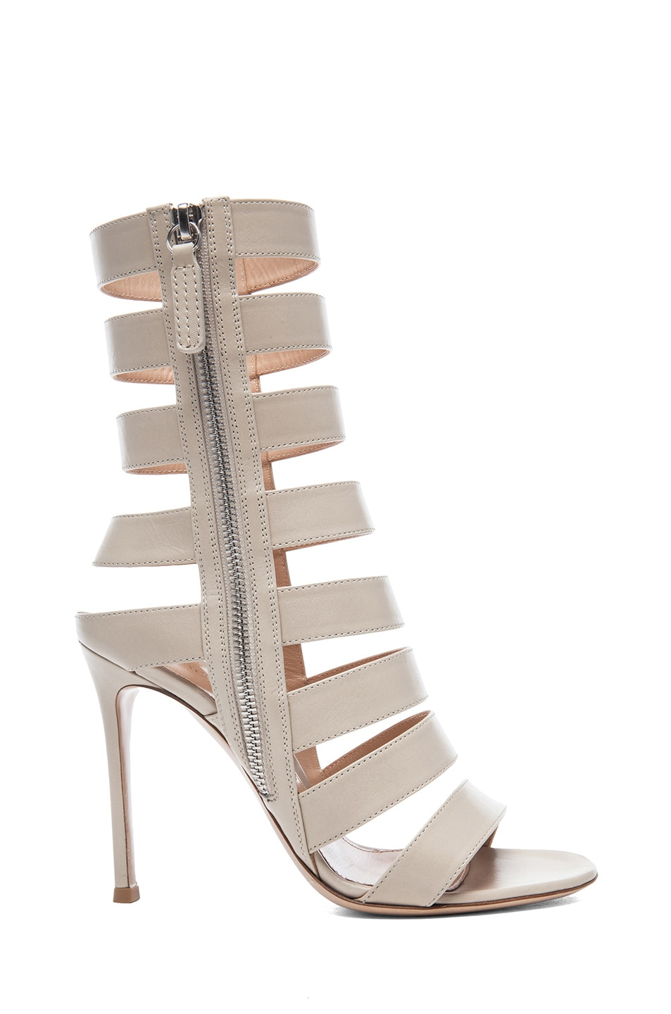 Image 1 of Gianvito Rossi Leather Strap Sandals in Pietra