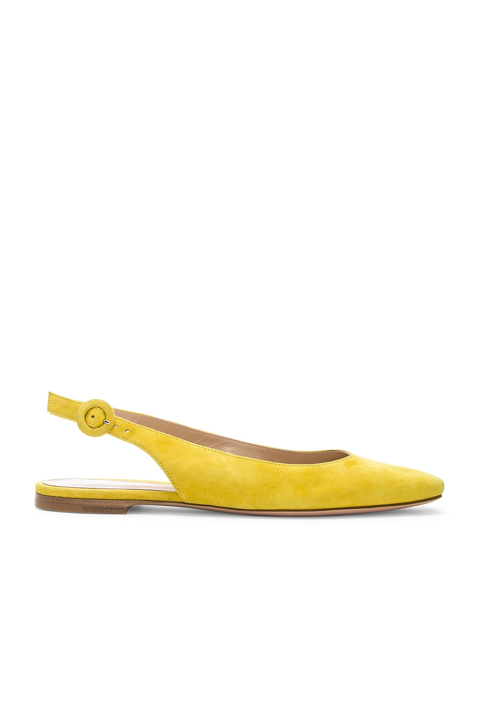 Image 1 of Gianvito Rossi Tish Slingback Flat in Mimosa