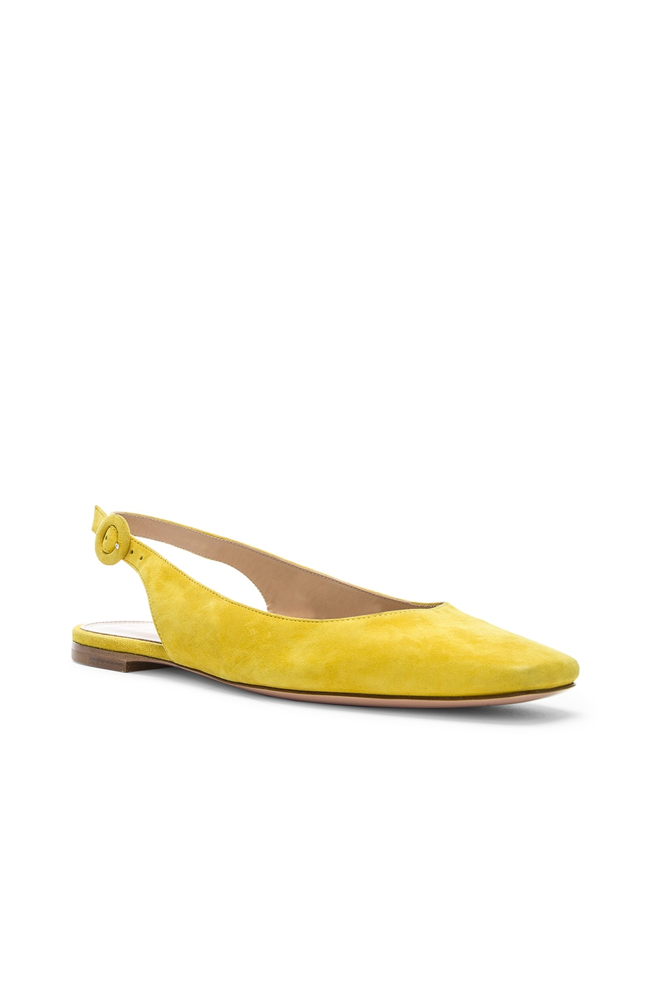 Image 2 of Gianvito Rossi Tish Slingback Flat in Mimosa