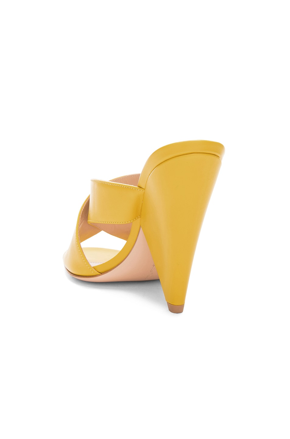 Image 3 of Gianvito Rossi Open Toe Mule in Mimosa