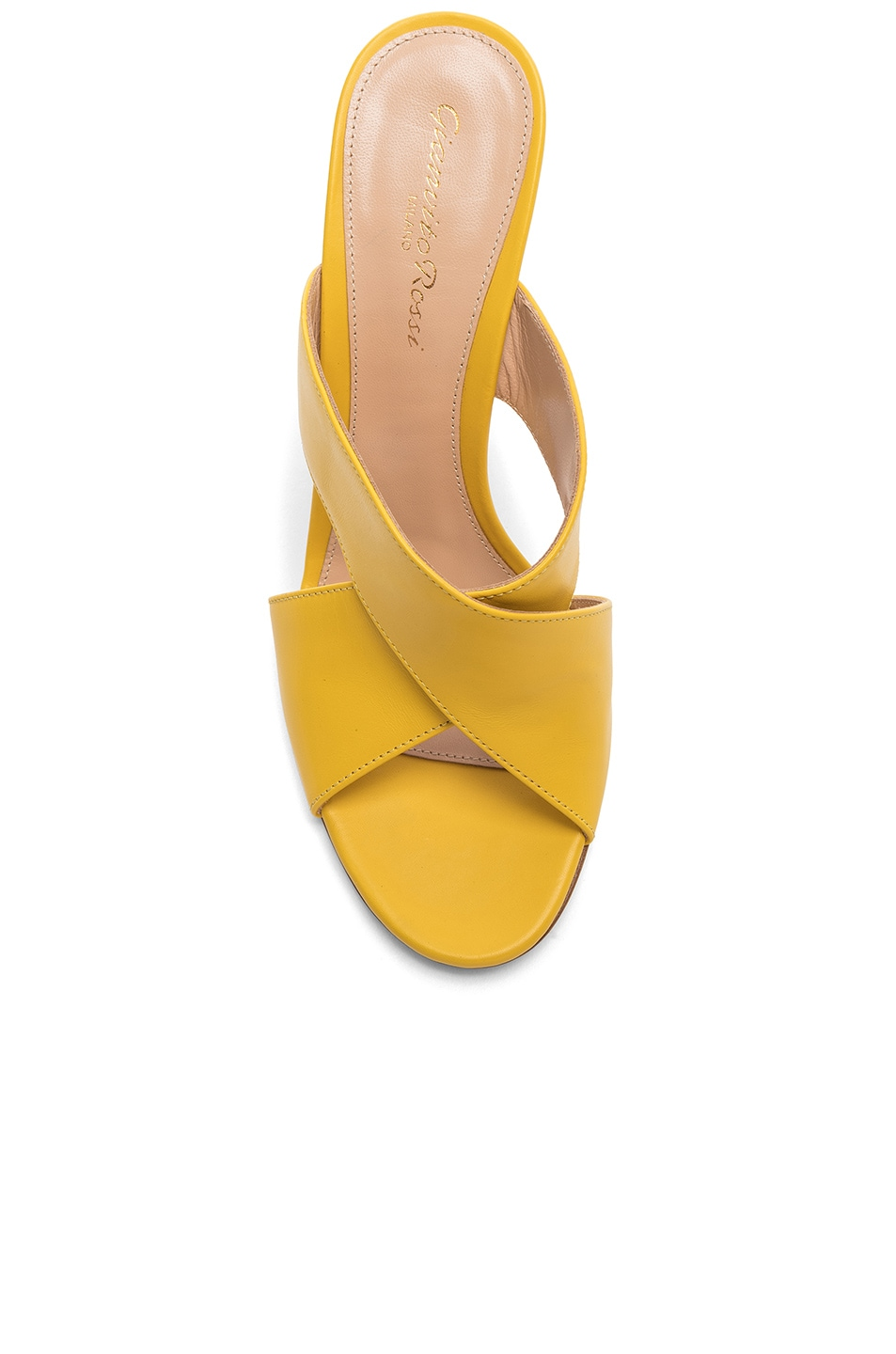 Image 4 of Gianvito Rossi Open Toe Mule in Mimosa