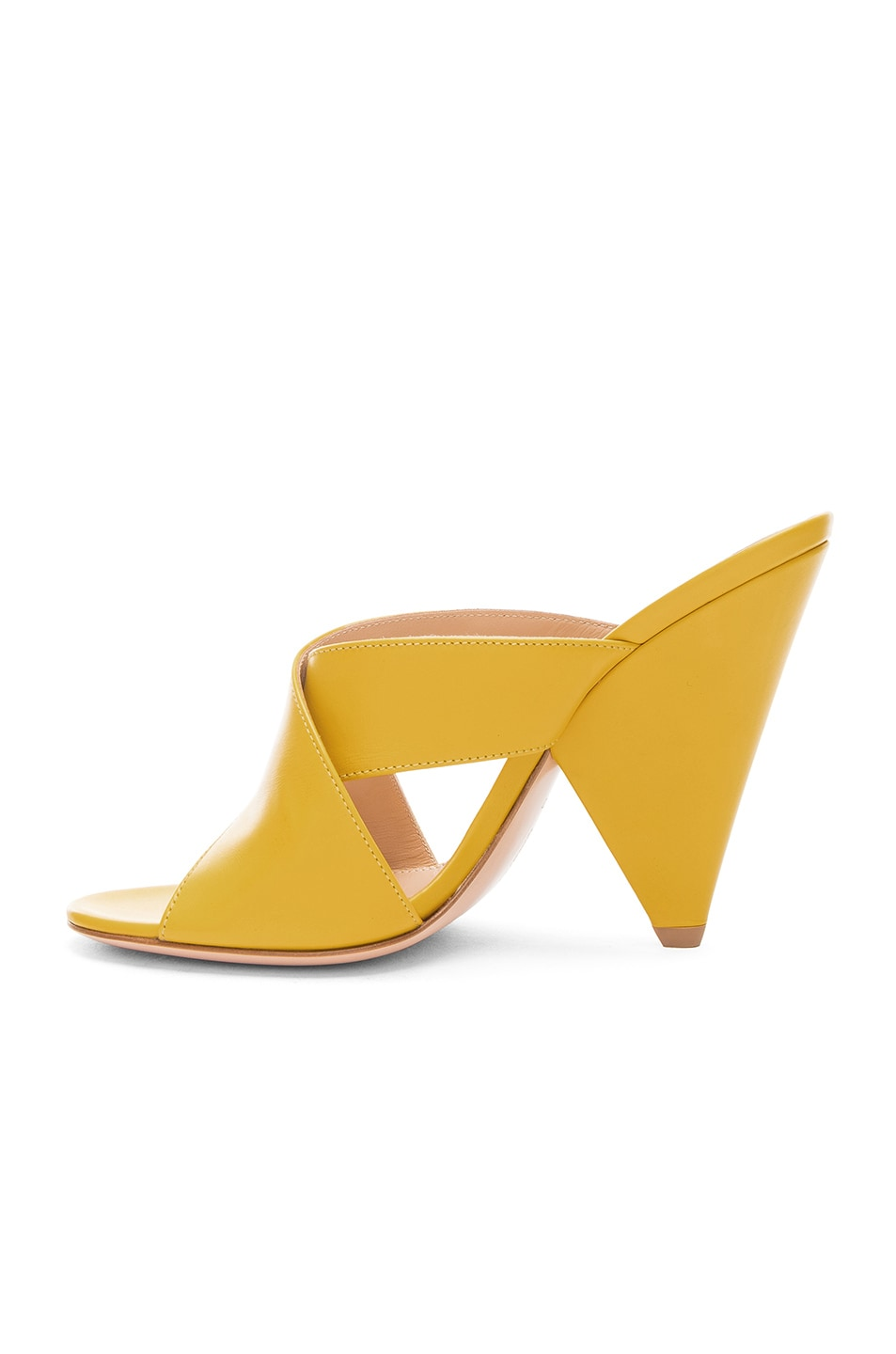 Image 5 of Gianvito Rossi Open Toe Mule in Mimosa