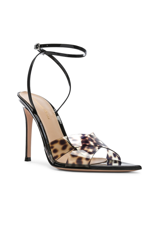 Image 2 of Gianvito Rossi Stark Leopard Heel in Leopard & Black