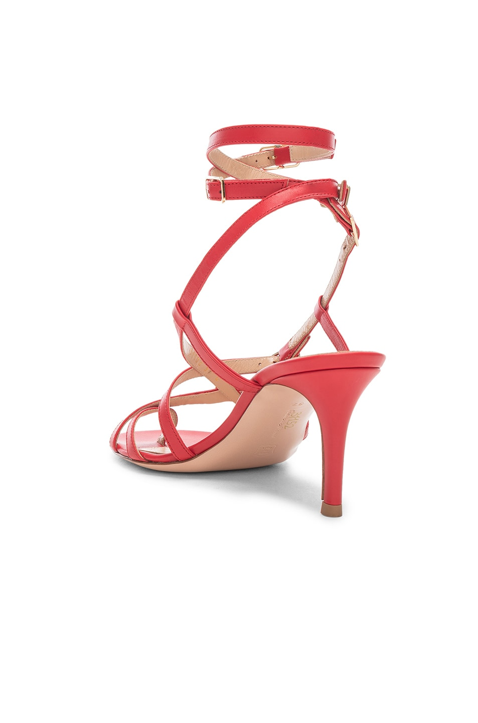 Image 3 of Gianvito Rossi Cory Buckle Strappy Heel in Tabasco Red