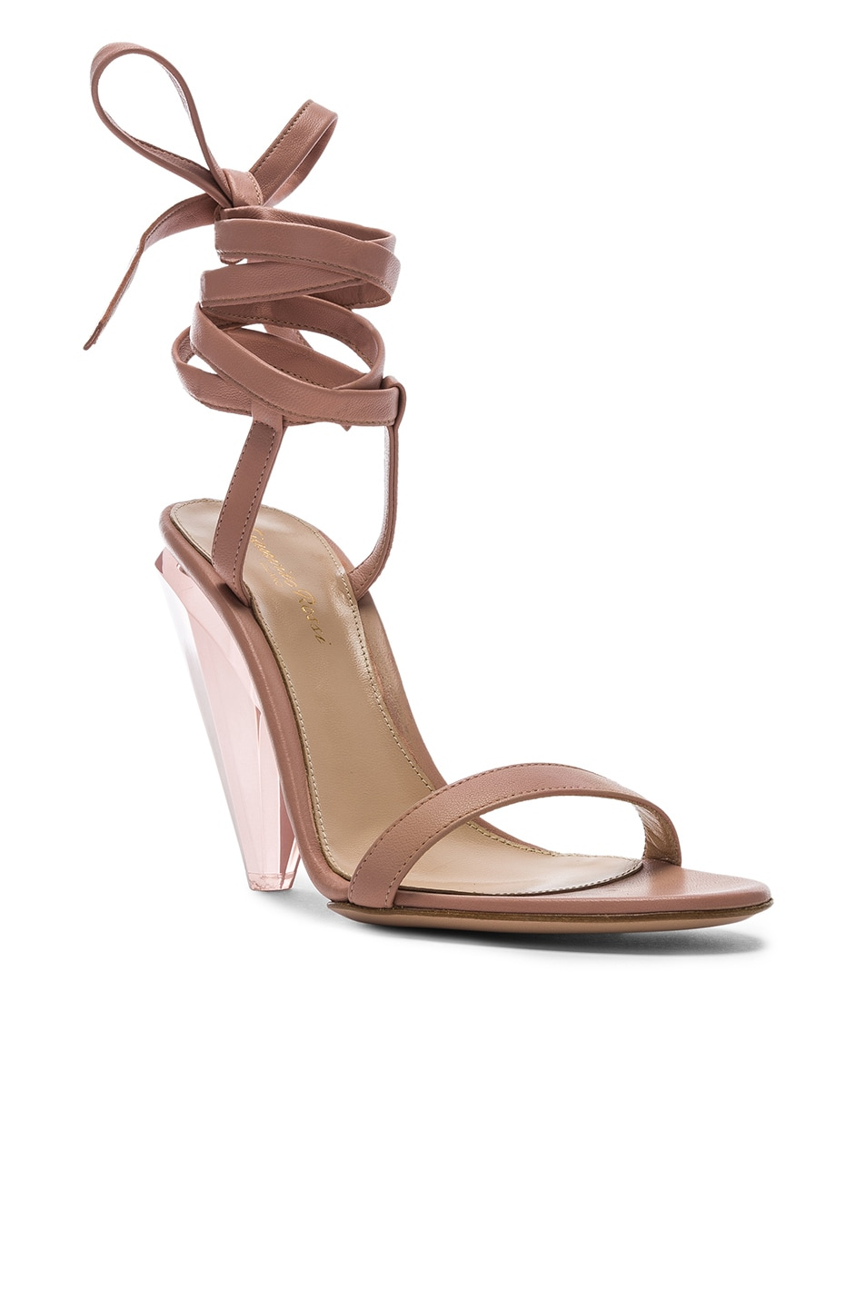 Image 2 of Gianvito Rossi Palace Strappy Heel in Dahlia