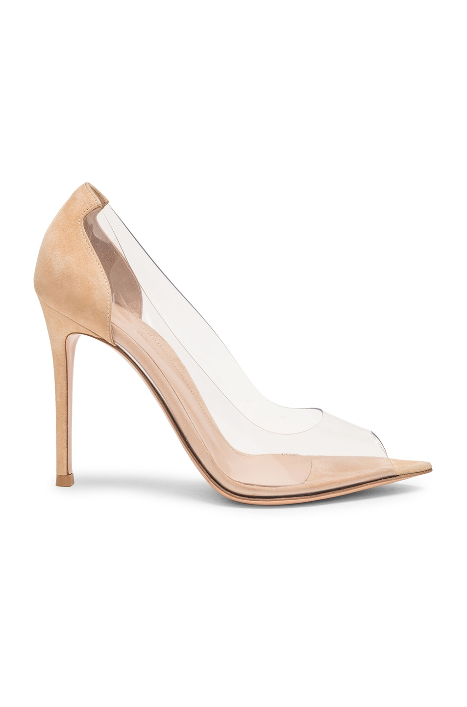Image 1 of Gianvito Rossi Open Toe Heel in Nude & Transparent
