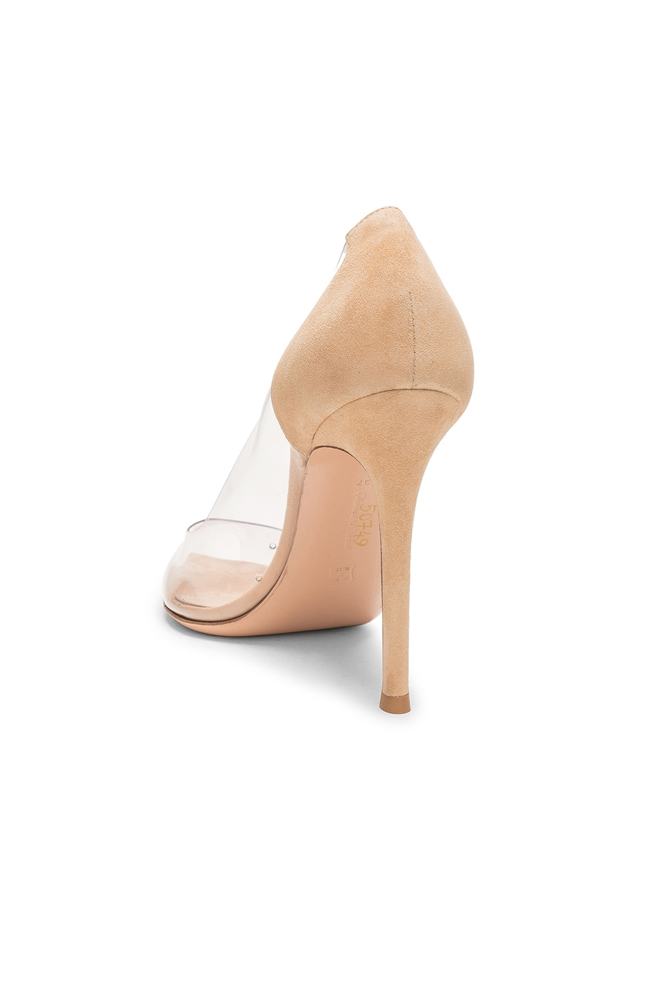 Image 3 of Gianvito Rossi Open Toe Heel in Nude & Transparent