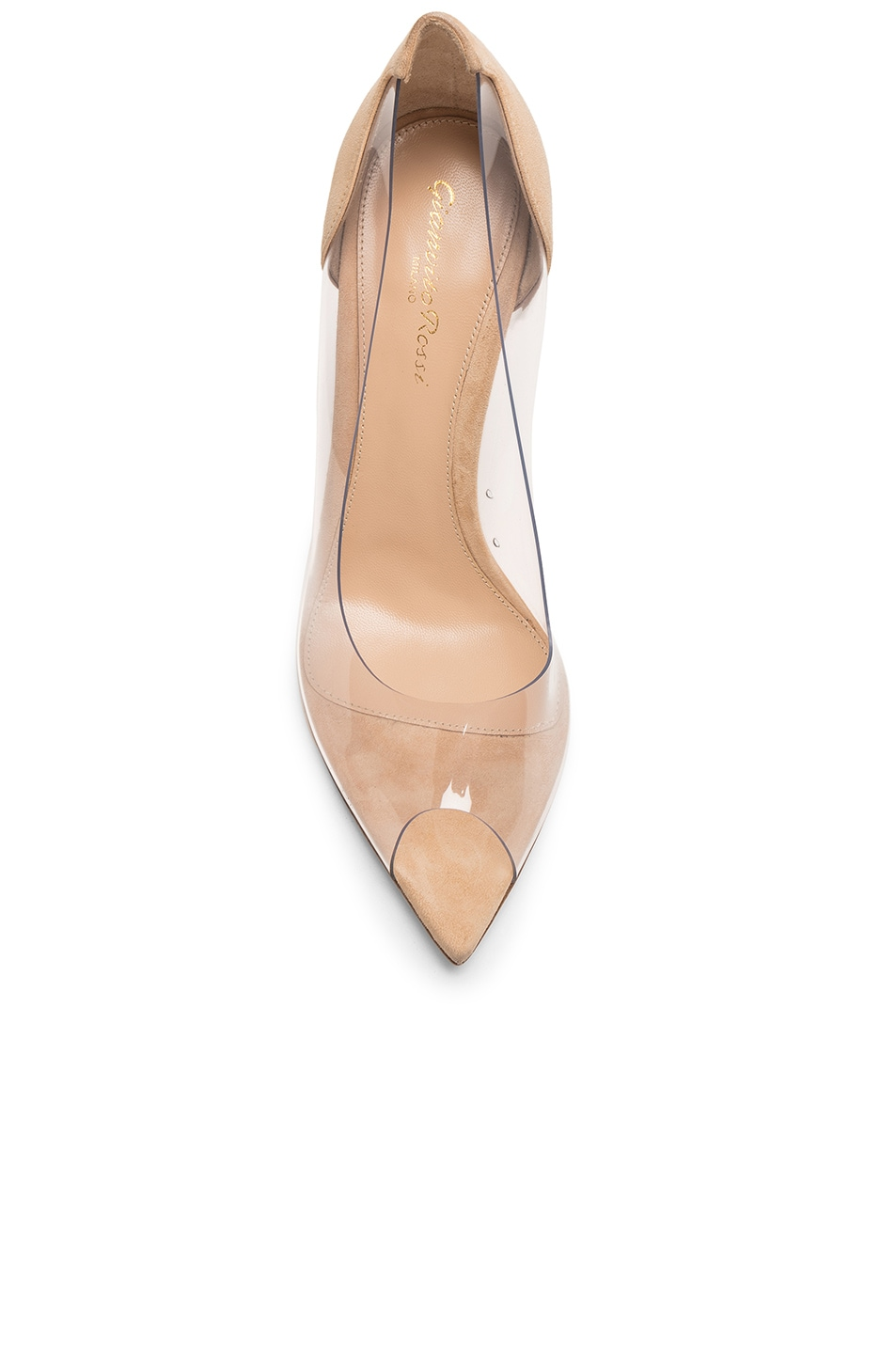 Image 4 of Gianvito Rossi Open Toe Heel in Nude & Transparent