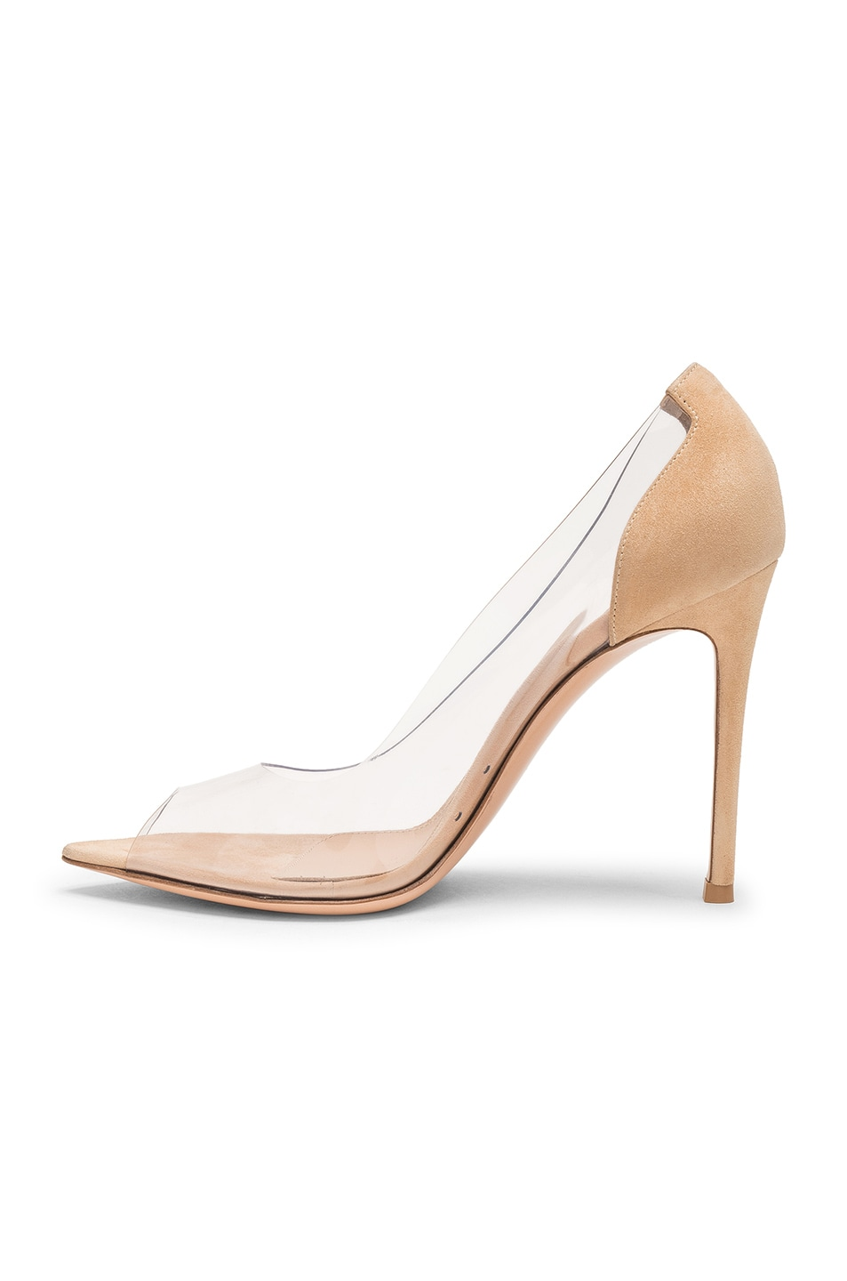 Image 5 of Gianvito Rossi Open Toe Heel in Nude & Transparent