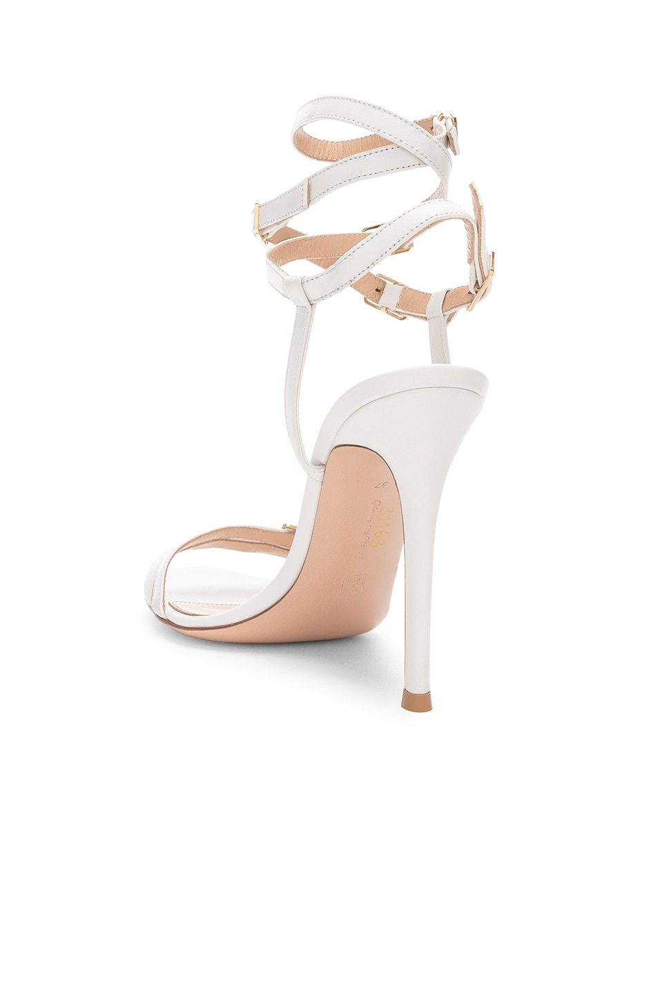 Image 3 of Gianvito Rossi Cassandra Buckle Strappy Heel in White