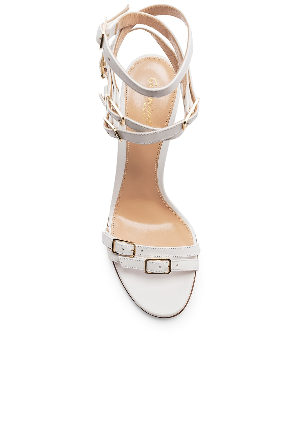 Image 4 of Gianvito Rossi Cassandra Buckle Strappy Heel in White