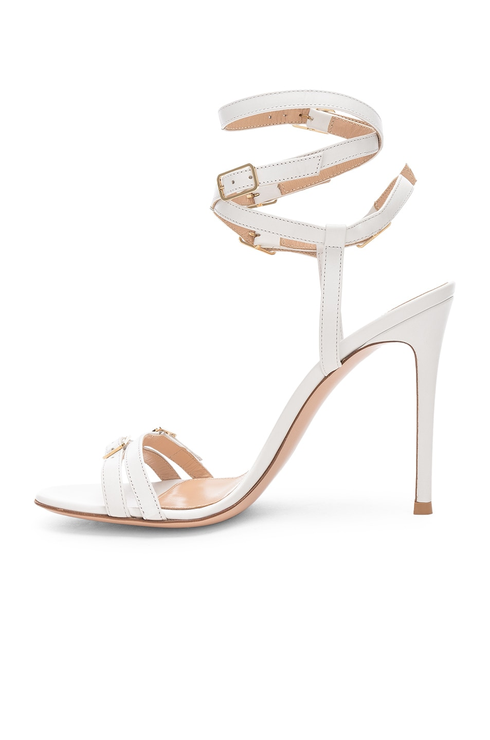 Image 5 of Gianvito Rossi Cassandra Buckle Strappy Heel in White