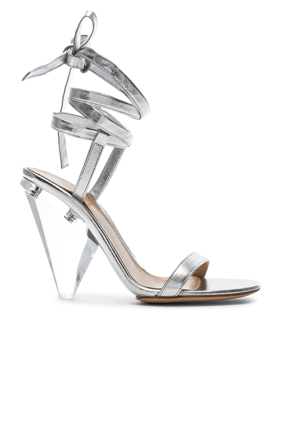 Image 1 of Gianvito Rossi Palace Strappy Heel in Silver