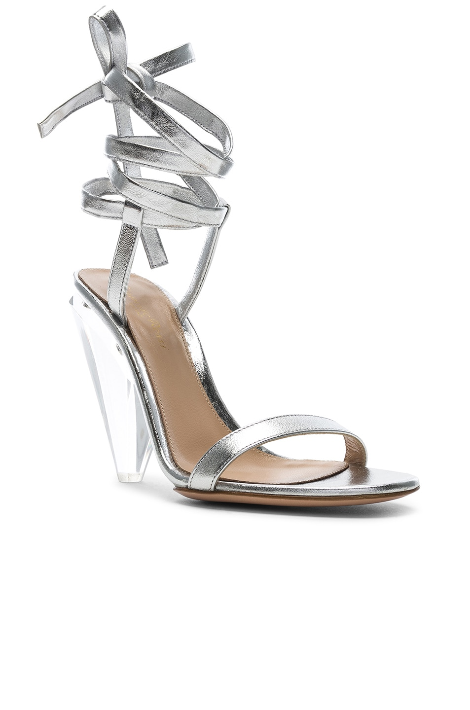 Image 2 of Gianvito Rossi Palace Strappy Heel in Silver