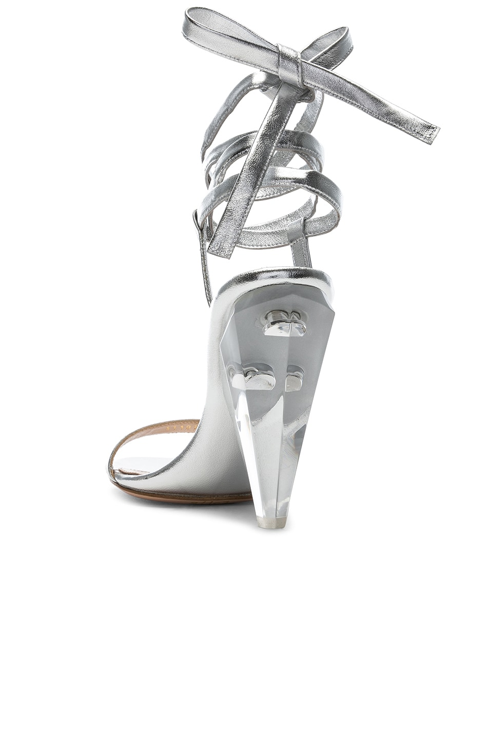 Image 3 of Gianvito Rossi Palace Strappy Heel in Silver
