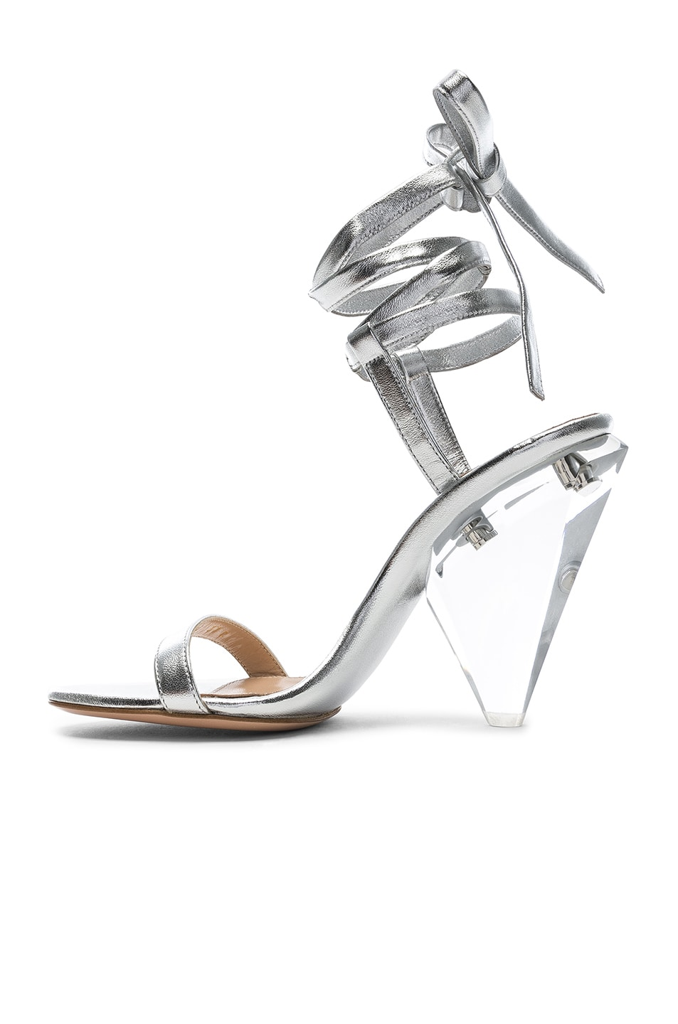 Image 5 of Gianvito Rossi Palace Strappy Heel in Silver