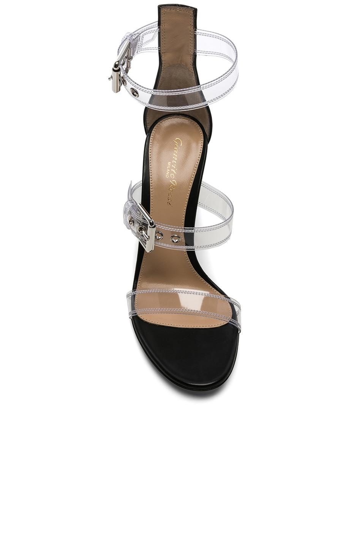 Image 4 of Gianvito Rossi Plexi Gabby Strap Heels in Trasp & Black