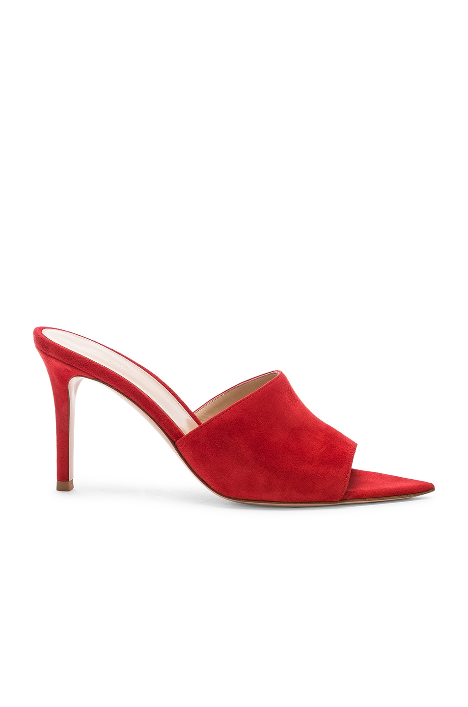 Image 1 of Gianvito Rossi Alise Mules in Tabasco Red