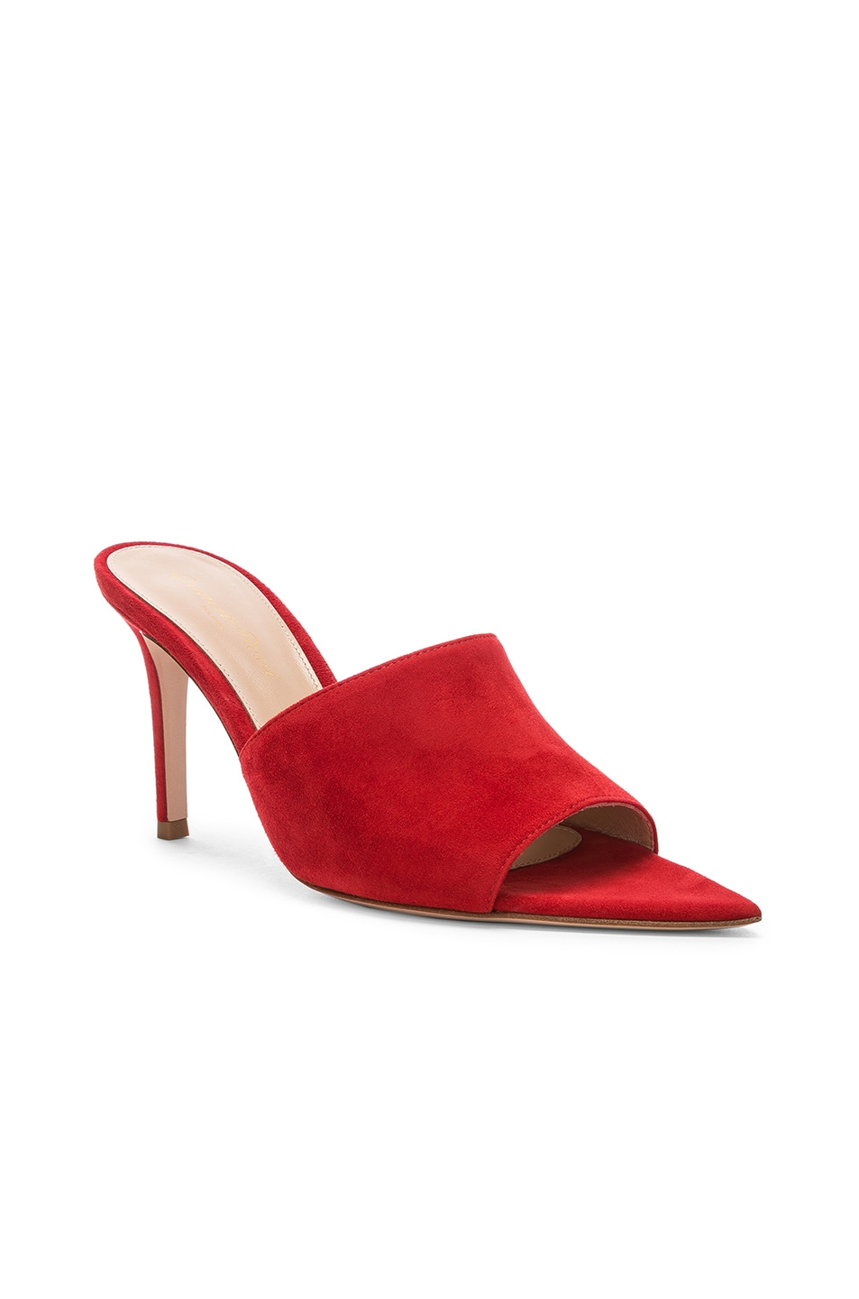 Image 2 of Gianvito Rossi Alise Mules in Tabasco Red