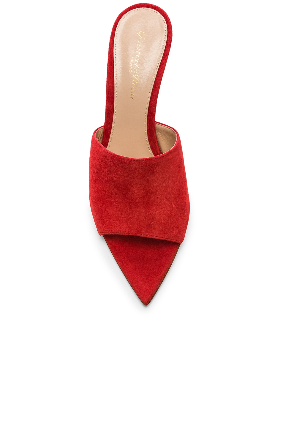 Image 4 of Gianvito Rossi Alise Mules in Tabasco Red