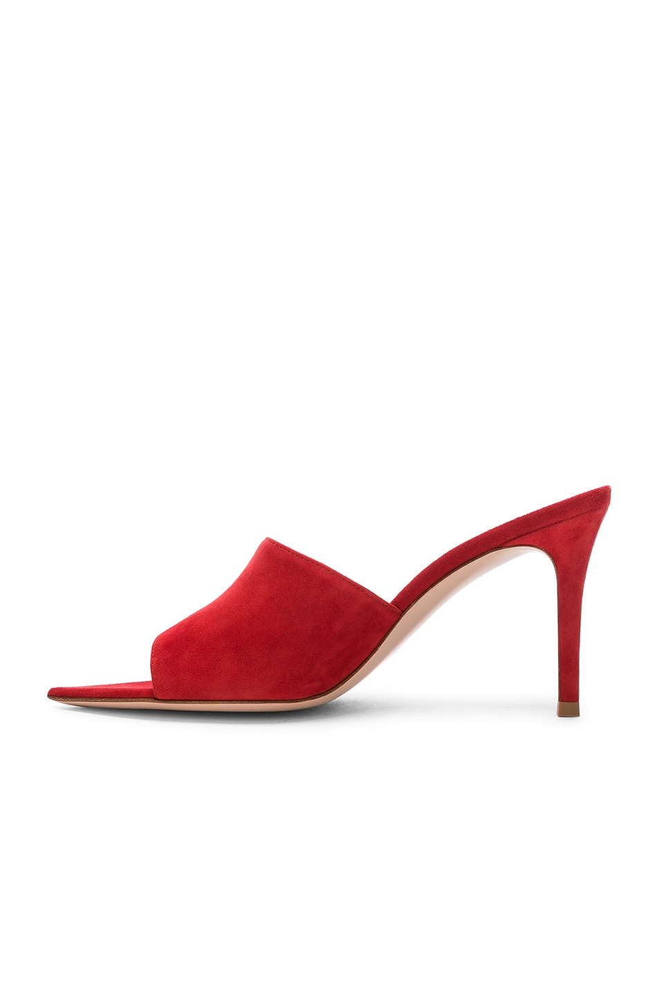 Image 5 of Gianvito Rossi Alise Mules in Tabasco Red