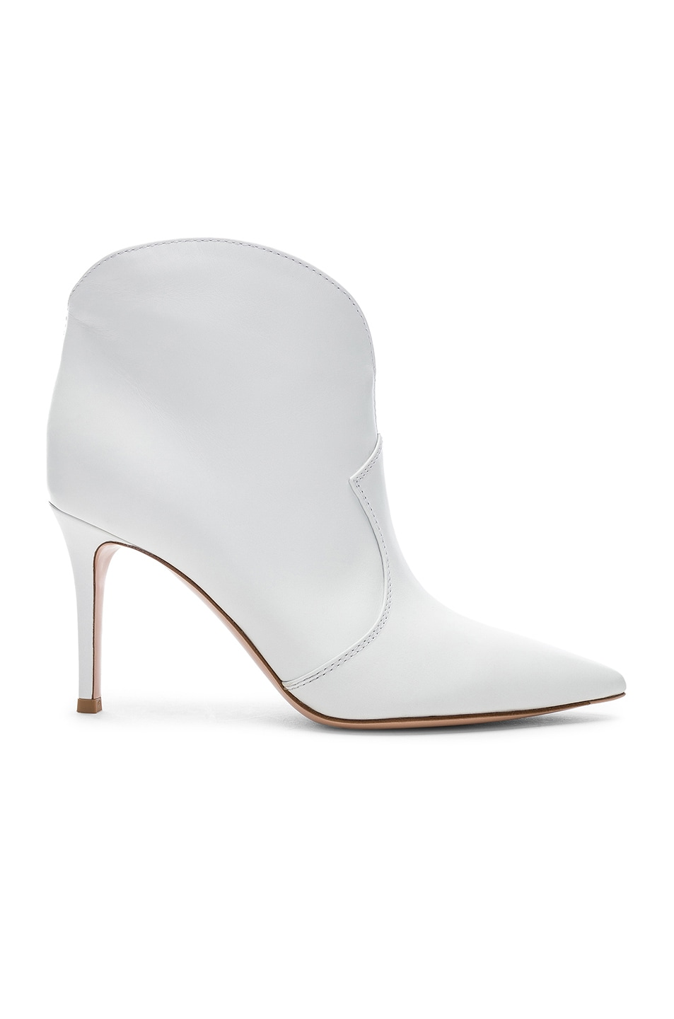 Image 1 of Gianvito Rossi Mable Mid Booties in White