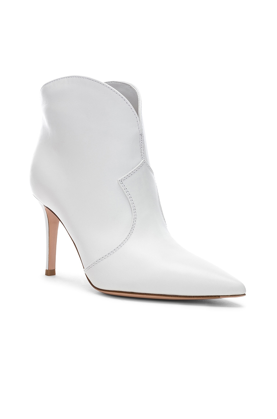 Image 2 of Gianvito Rossi Mable Mid Booties in White