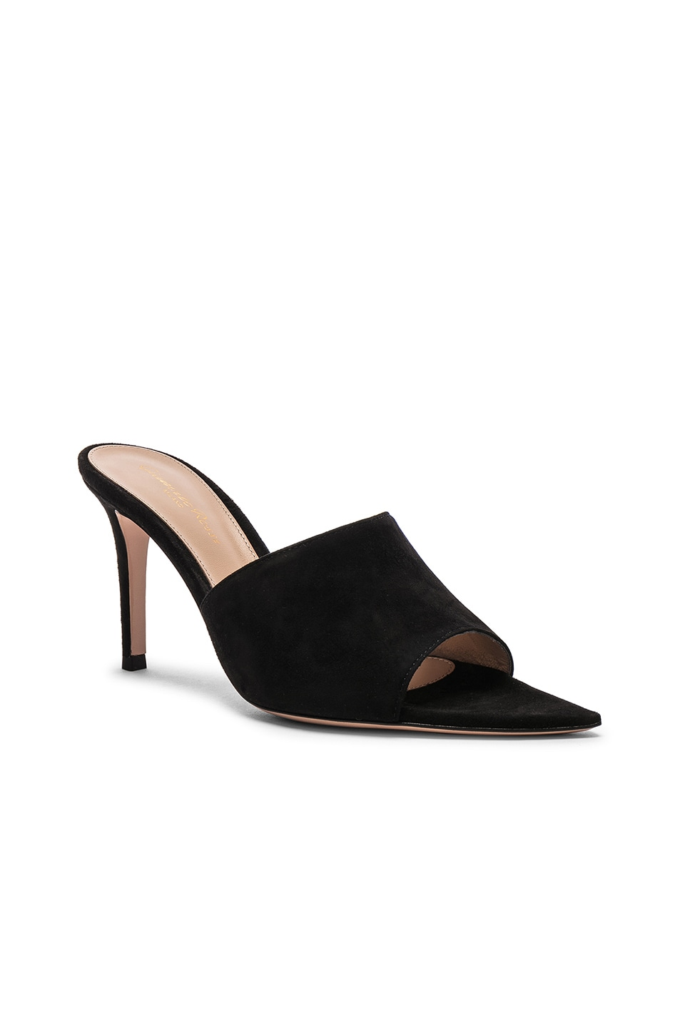 Image 2 of Gianvito Rossi Camoscio Mules in Black