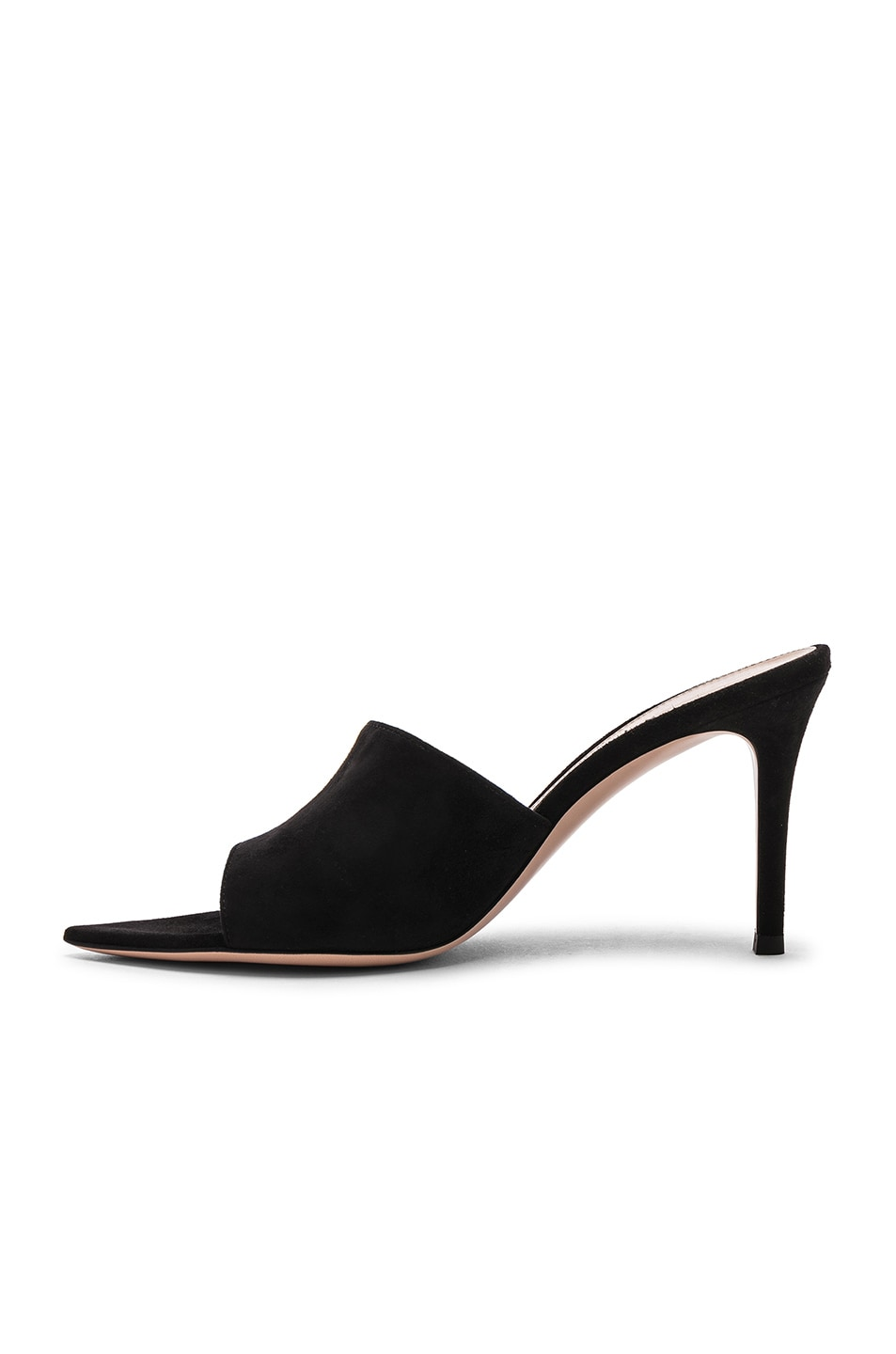 Image 5 of Gianvito Rossi Camoscio Mules in Black