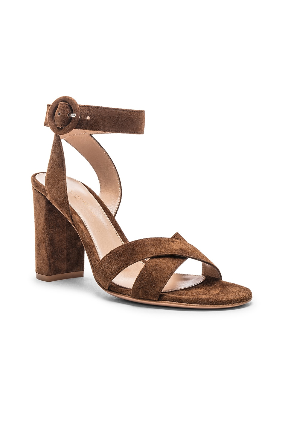 Image 2 of Gianvito Rossi Camoscio Sandals in Texas